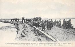 Catastrophe Du Raz De Marée Du 12 Mars 1906 - Reconstruction De La Digue à Calloo Par Le Génie - Beveren-Waas