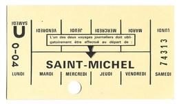 CARTE TICKET METRO /AUTOBUS  (publistar) Saint Michel - Métro