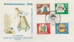 Allemagne 1966  BONN   N° 380 / 83  Oblitéré Sur Enveloppe 1 Jour  Conte - Storia Postale