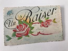 Carte Postale Ancienne Un Baiser - Souvenir De...