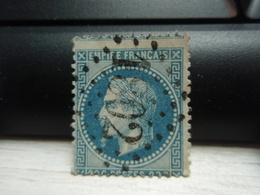 Timbre Empire Français 20 C. Napoléon III  Lauré. 29   Oblitéré. 1802 à Voir - 1863-1870 Napoléon III Lauré