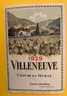 13040 - Villeneuve Clos De La Muraz 1929 Louis Duflon - Etiquetas