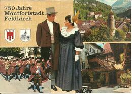 Feldkirch (Vorarlberg, Austria) 750 Jarhe, Wappen Von Vorarlberg, Blick Auf Die Stadt, Stadtmusik, Hof Der Schattenburg - Feldkirch