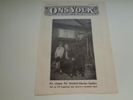 """Origineel Knipsel ( 2059 ) Uit Tijdschrift """" Ons Volk """" 1929 : Echtpaar Steenhoff - Albertine Smulders  Baarn  Soestdijk - Non Classificati"""