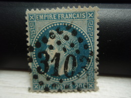 Timbre Empire Français 20 C. Napoléon III  Lauré. 29 A  Oblitéré. 3103 - 1863-1870 Napoléon III Lauré