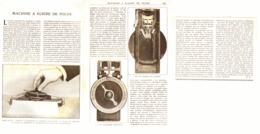 MACHINE à ECRIRE De POCHE    1920 - Technical