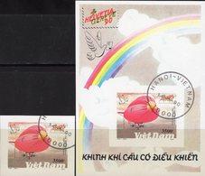 EXPO Helvetia 1990 Vietnam 2248+Block 74 B O 16€ Zeppelin Am Bodensee Bloque Hoja Bloc Philatelic Sheet Bf Viet Nam - Philatelic Exhibitions