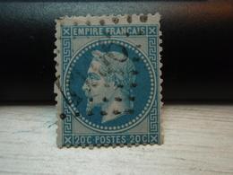 Timbre Empire Français 20 C. Napoléon III  Lauré. 29  A Oblitéré. 4166 - 1863-1870 Napoléon III Lauré