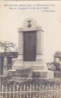 Ardennes - Neuflize - Le Monument Aux Morts, Inauguré Le 24 Avrils 1924 - Autres Communes