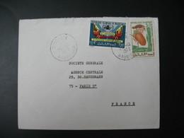 Lettre Thème  Programme Alimentaire Mondial Et Fruits Ile Maurice 1973 Pour La Sté Générale En France Bd Haussmann Paris - Mauritius (1968-...)