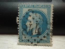 Timbre Empire Français 20 C. Napoléon III  Lauré. 29 A Oblitéré. 844 - 1863-1870 Napoléon III Lauré