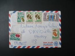 Lettre Thème Fruits Et Lutte Contre La Discrimination Ile Maurice 1973 Pour La Sté Générale En France Bd Haussmann Paris - Mauritius (1968-...)