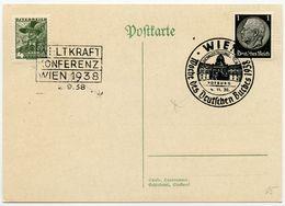 DT.REICH 1938, NR. 512, PK SST, WIEN; BUCHAUSSTELLUNG+ ÖSTEREICH NR. 569, SST - Lettres & Documents