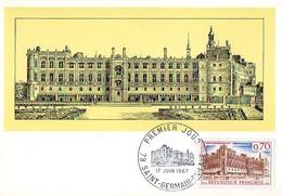 France 1501 Fdc Château De Saint Germain En Laye, Estampe - Châteaux