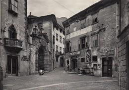 ALA-TRENTO-PIAZZA ANTONIO CANTORE-INSEGNA BIRRA TABACCHI-VESPA PIAGGIO-CARTOLINA VERA FOTOGRAFIA VIAGGIATA IL 5-3-1955 - Trento