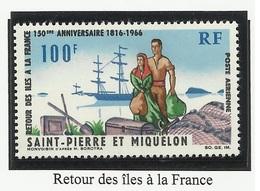 SAINT PIERRE ET MIQUELON SPM PA N° 36 Neuf Sans Charnière ** 1966 - Airmail