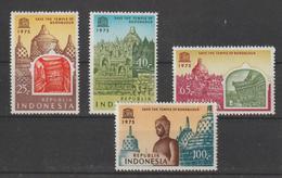 Indonésie 1975 Unesco Temple Borobudur 739-42 4 Val ** MNH - Indonesia