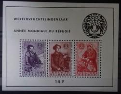 BELGIQUE BLOC FEUILLET N°32 COTE 80 € NEUF ** MNH ANNEE MONDIALE DU REFUGIE EN 1960. TB - Blokken 1924-1960