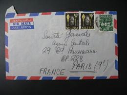 Lettre Thème Masques Coutumes      Niger  1962   Pour La Sté Générale En France Bd Haussmann Paris - Niger (1960-...)