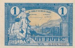 Un Francs, Chambre De Commerce Du Nord-pas De Calais - Chambre De Commerce