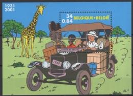 2001. BL93 **, MNH. Cote COB 2020 :  3 € - Blocks & Sheetlets 1962-....