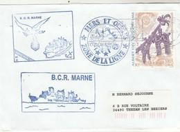 BCR MARNE Mers Et Océans Passage De La Ligne 24/6/2002 - Enveloppe 1 - Storia Postale