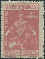 PORTUGAL Portogallo,1915 TELEGRAFOS,2C Dull Brown-rose,Original Gum - Télégraphes