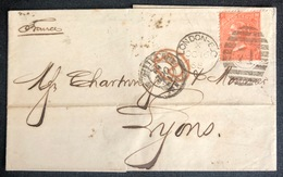 LETTRE Grande Bretagne 1870 N°32 (planche 10) De London Pour Lyon FH/HF + PD TTB - Covers & Documents