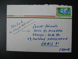 Lettre Thème Agence De Coopération Des Pays Francophones Niger  1971   Pour La Sté Générale En France Bd Haussmann Paris - Niger (1960-...)