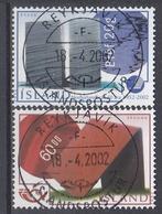 +Iceland 2002. NORDEN. Modern Art. AFA 990-91.  Cancelled - Oblitérés