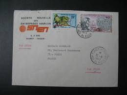 Lettre Thème Oiseaux - Union Monétaire Ouest-Africaine  Niger  1973   Pour La Sté Générale En France Bd Haussmann Paris - Niger (1960-...)
