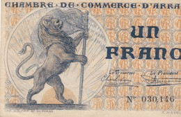Un Francs, Chambre De Commerce D'Arras - Chamber Of Commerce