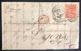 LETTRE Grande Bretagne 1870 N°32 (planche 11) De London Pour Lyon JR/RJ + PD TTB - 1840-1901 (Regina Victoria)