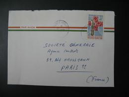 Lettre Thème Ligue Des Sociétés De Croix Rouges  Niger  1969   Pour La Sté Générale En France Bd Haussmann Paris - Niger (1960-...)