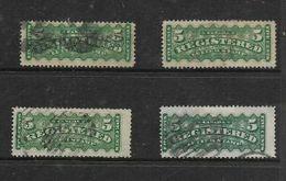 Canada, VRI, 1895, Registered, 5cents X 4 Used - Recomendados
