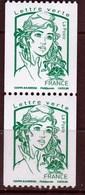 Marianne De Ciappa De 2013, Lettre Verte 20g  Vert N° 4778 N° 007 Et 008  Noir à Droite Au Verso - 2013-... Marianne De Ciappa-Kawena