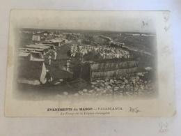 CPA MAROC - CASABLANCA - Evenements Du Maroc - Le Camp De La Légion étrangère - Casablanca