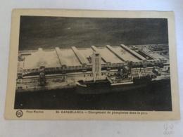 CPA MAROC - CASABLANCA - 55 - Chargement De Phosphates Dans Le Port - Casablanca