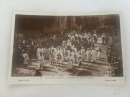 CPA MAROC - CASABLANCA - 61 - Le Sultan Se Rend à La Prière - Casablanca