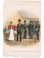"GREAT BRITAIN Army Chaplain,Medical Staff And Nurses---""R.Simkin"" ORIGINAL PRINT 1897 ""Army & Navy Gazette"" #111 (PR-3) - Prints & Engravings"