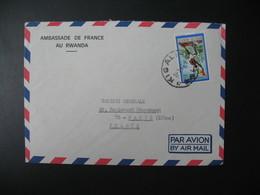 Lettre  Thème  Anniversaire De La Révolution  1971   Pour La Sté Générale En France Bd Haussmann Paris - Rwanda
