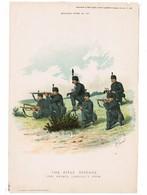 "GREAT BRITAIN The Rifle Brigade---""R.Simkin"" ORIGINAL PRINT 1895 ""Army & Navy Gazette"" #107 (PR-4) - Prints & Engravings"