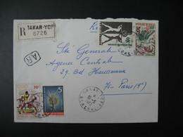 Lettre Recommandé 6726 ThèmeSport Athlétisme Et Poissons 1973 Sénégal  Pour La Sté Générale En France - Senegal (1960-...)