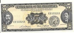PHILIPPINES 5 PESOS ND UNC P 135 E - Filippine