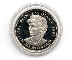 LIBERIA 5 DOLLARS 1997 CN PROOF DIANA IN MEMORIAM DAMAGE ONLY ON CAPSEL - Liberia