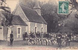 CPA 27 @ BEAUMONT LE ROGER - Chasse à Courre St Hubert - L'Equipage Au Rendez Vous - La Meute De Chiens En 1909 - Beaumont-le-Roger
