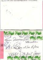 FRANCE - LETTRE RECOMMANDEE AR ARGENTEUIL VAL D'OISE 18.5.1987  - 13 X  LIBERTE DE GANDON/ 2 - 1961-....