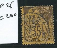GUYANE :  COLONIES FRANCAISES - N°25. Oblitéré. Cote :  250€. Signé Calves. - Gebraucht