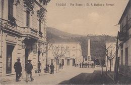 TAGGIA  (IMPERIA) - VIA ROMA - M. F. RUFFINI E FERRARI - VIAGGIATA 1910 - Imperia