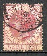 MALACCA  (Colonie Britannique) - 1882-99 - N° 39 - 12 C. Brun-lilas - (Victoria) - Malacca